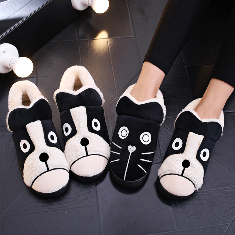 2018 Women Boots Winter Warm Fur Plush Snow Ankle Boots House Cotton Comfort Memory Foam Shoes Woman Couple Botas Mujer booties 2018 winter snow boots women plush ankle boots slip on fur warm cotton platform shoes woman comfort black pink botas mujer