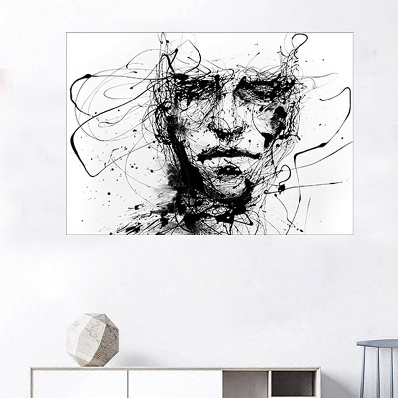 Modern-Canvas-Painting-Black-White-Line-Figure-Abstract-Art-Prints-Poster-home-decoration-accessories-Wall-Decor
