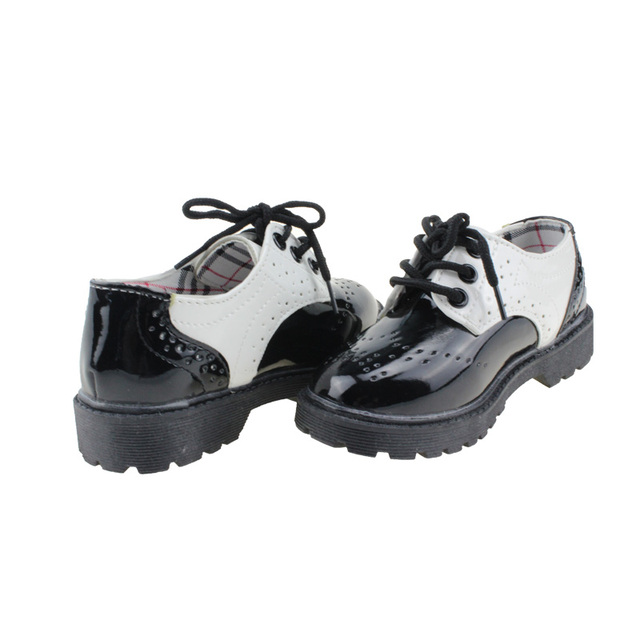5153dcfdc0cc MSMAX Children Girls Boys Lace Up Princess Wedding Shoes Patent Leather Kids  School Single Shoe