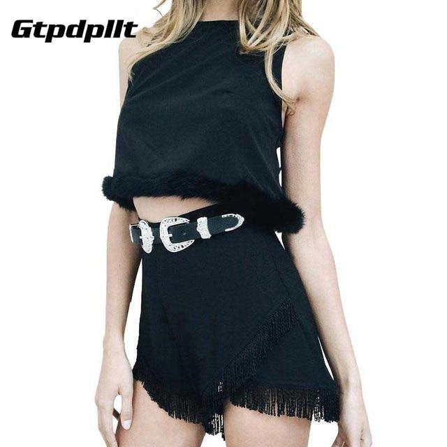 Metal head Fashion PU leather women belt Double buckle high quality brand waist belt 2017 Vintage black luxury belts cummerbunds