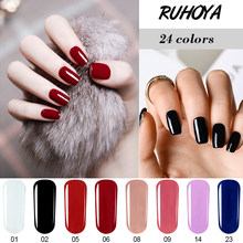 Ruhoya 8ML Smalto Splendida Nail Gel Per Unghie Arte Set UV LED Soak Off Gel Smalto Semi-permanente Popolare colori Uv Lacca Unghie artistiche(China)