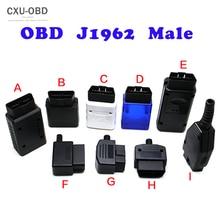 Adaptateur de prise de connecteur mâle 16 broches OBD2, EOBD J1962, adaptateur de câblage 16 broches, coque 5 pièces