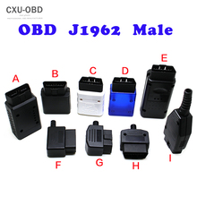 Novo obd2 16pin macho conector plug adaptador obd obdii eobd j1962 obd2 16pin adaptador de fiação 16pin escudo 5 pçs