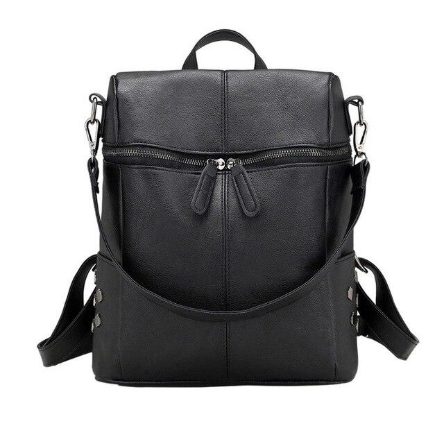 MoneRffi Casual Large Capacity Shoulder Bags Vintage Women Backpack Nubuck Leather Pu School Backpacks For Teenage Girl mochila 1
