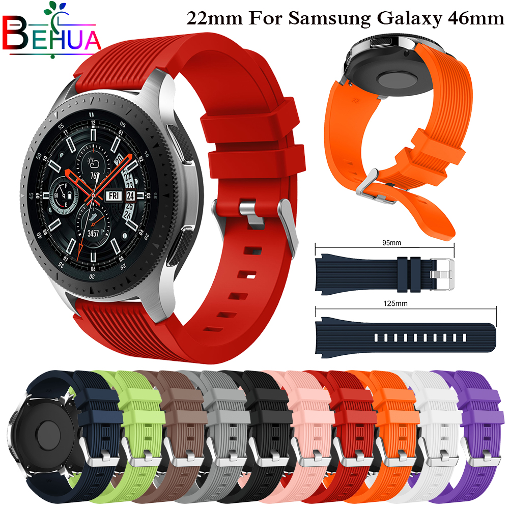 Sport Silicone Strap for Samsung Galaxy Watch 46mm Replace wrist Band bracelet straps for Samsung Gear S3 Classic/ Frontier Band fashion woven nylon watch band loop strap for samsung galaxy watch 42 46mm colorful wrist band strap for samsung sports straps