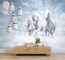 Custom wallpaper modern minimalist dream horse background beautiful living room bedroom decoration waterproof material