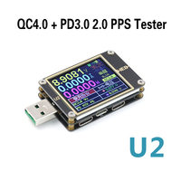 WEB U2 USB tester Voltage current voltmeter meter HD color QC4+ PD3.0 PPS fast charging protocol capacity test online computer