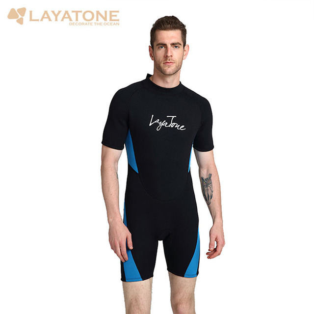 3MM Neoprene Wetsuit Men Snorkeling Spearfishing Diving Suit One-Piece and Close Body Scuba Dive Surfing Swimsuit Jumpsuit