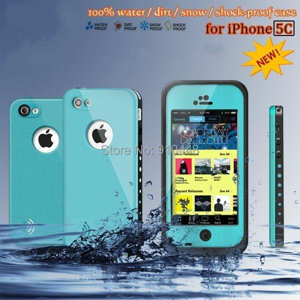 Бесплатная доставка высокое качество 100% водонепроницаемый мешок противоударно гель сенсорный экран чехол для Apple , iPhone 5C с розничной упаковке