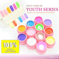 #30611A CANNI Nail Art Gel Supply Soak Off UV LED 2 in 1 Color Gel Youth Series 12 Colors Gel Paint