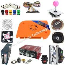 Arcade parts Bundles kit With 2222 in 1 Pandora Box 9D multi game LED Joystick 12V LED illuminated button