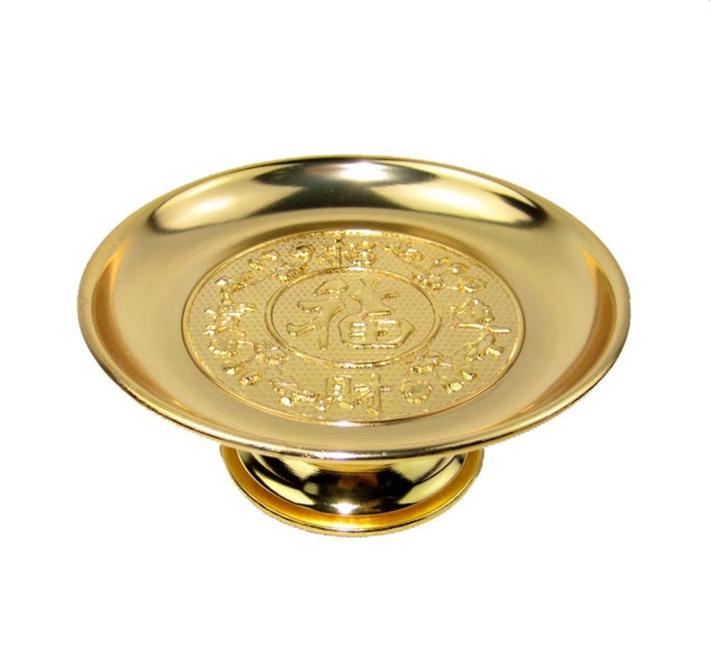 Metallic Buddhist Articles Alloy Fruit Disk High-grade Fruit Disk 10 Cm High Various Sizes  Buddhism Decoration