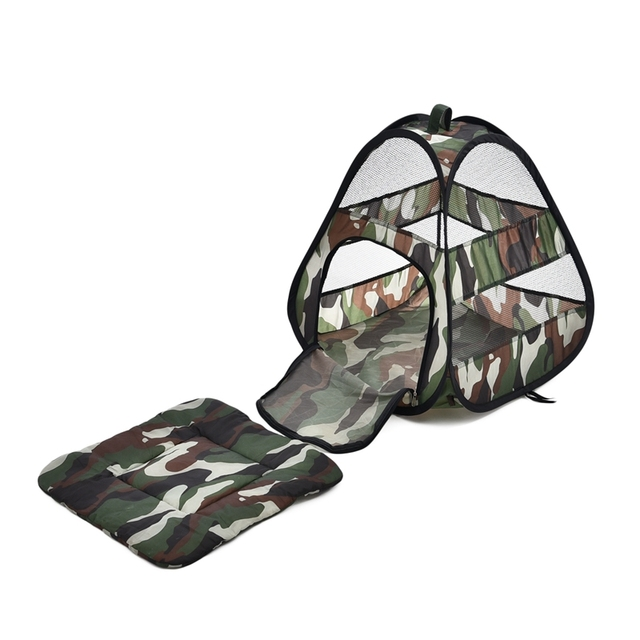 Pet Shop Camouflage Cat Bed Cat Products Breathable Cat Tent Travel Collapsible Easy Storage Bed For Small Animals Ferret House