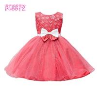 Retail Layer Holy Communion Dresses For Girl Children Sequined Decoration Flower Girl Dresses For Weddings Daughter