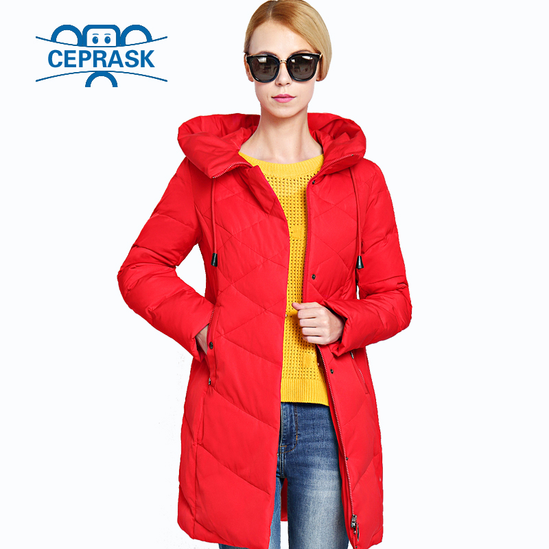 цена Women Winter Jacket 2017 New Plus Size Long Warm Womens Coat Bio-down Thickening Hooded Female Parkas Outerwear Brands CEPRASK
