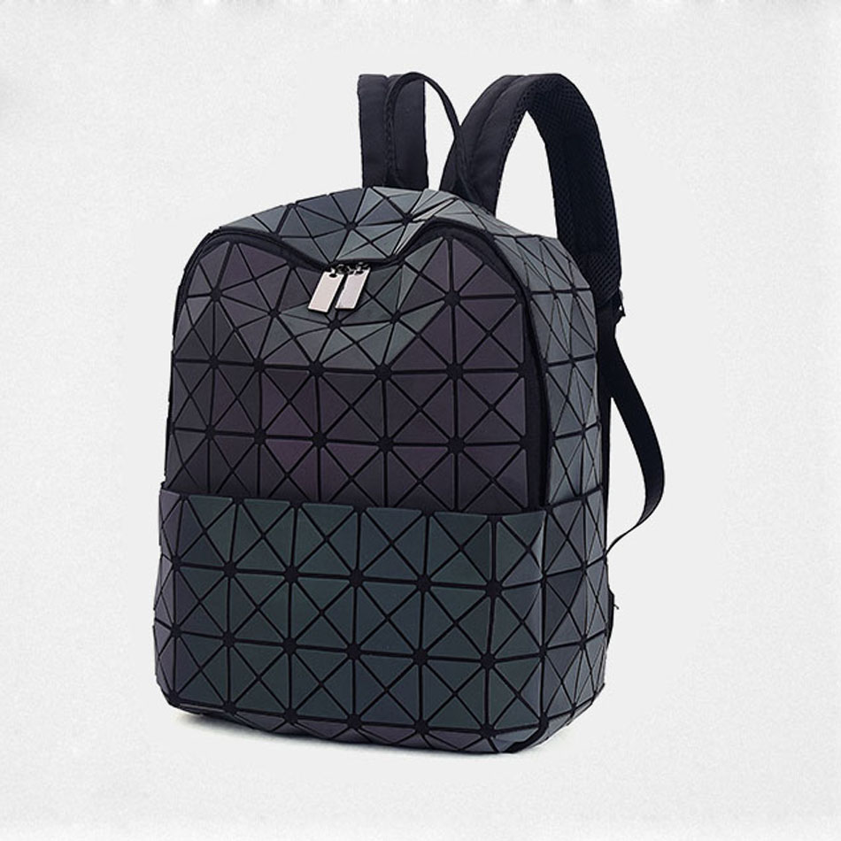 Leatury Newest Backpack Noctilucent Women Fashion Bags Laser Lattice  Geometric Luminous Backpack for Teenage Girls School Bags-in Backpacks from  Luggage ... 73fa676bbe611