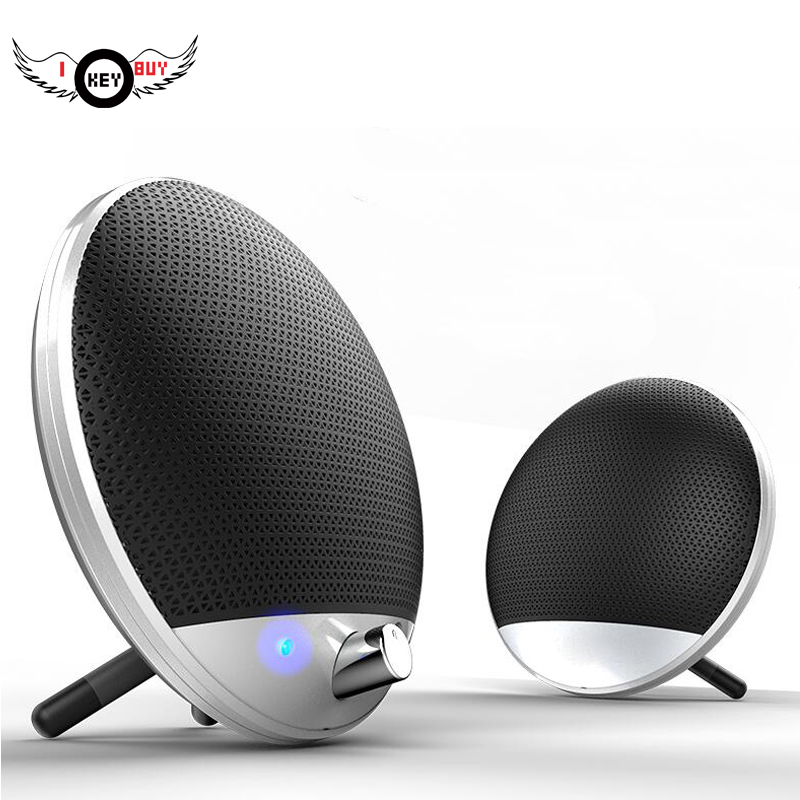 I Key Buy Portable Speakers USB 3.5mm for Computer Heavy Bass Stereo HIFI Radio Sounds 1 Pair image