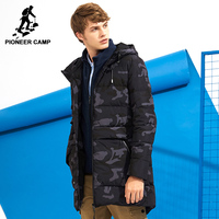 Pioneer Camp Long Camouflage Down Jacket Men Brand Clothing Fashion Winter Thick Warm Duck Down Coat