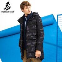 Pioneer Campo lungo camouflage giù gli uomini giacca marchio di abbigliamento moda inverno caldo di spessore anatra giù cappotto maschile di alta qualità AYR705309