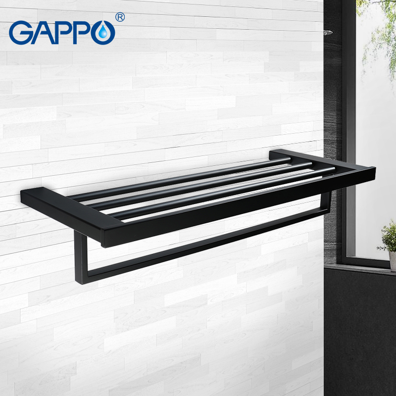 GAPPO Towel bars wall mounted accessories towel double racks bathroom hanger towels holders bathroom holder газонокосилка аккумуляторная greenworks g40lm35