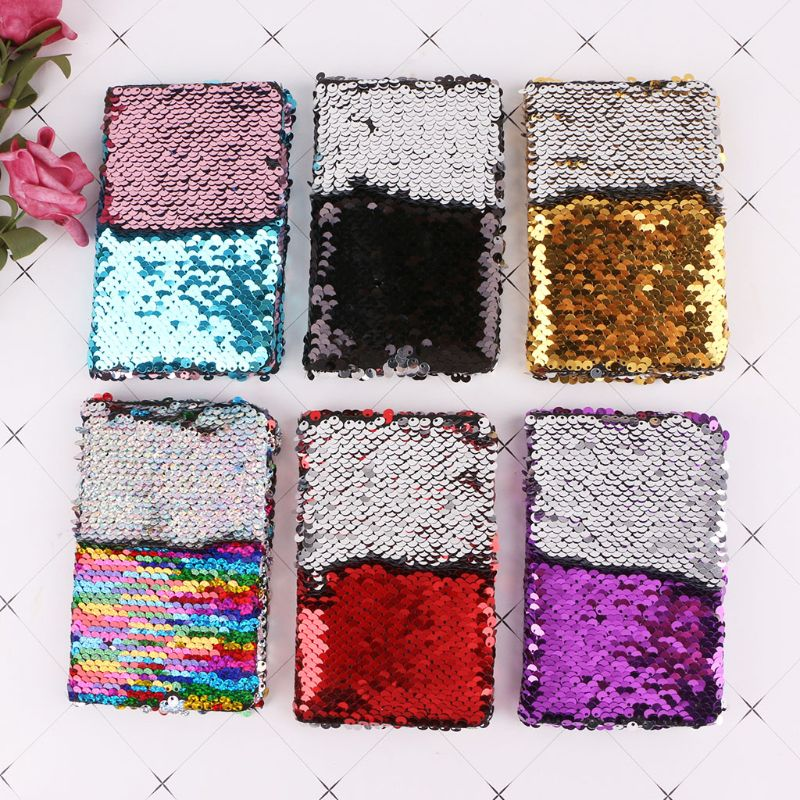 78 Sheets  Fashion Sequins Notebook Notepad Memos Gift Stationery Home Office Supplies