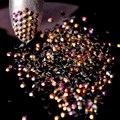 2mm SS6 1000 pcs 3D Unhas Dicas Arte Resina Flatback Strass DIY Prego Deco Contas Geléia AB Ouro Rose não hotfix cola uso J15-2mm
