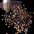 2mm SS6 1000 unids 3D Nails Art Consejos Flatback Rhinestone de la Resina Del Clavo de DIY Cuentas Deco Jelly AB no hotfix utilizar pegamento de Oro Rosa J15-2mm