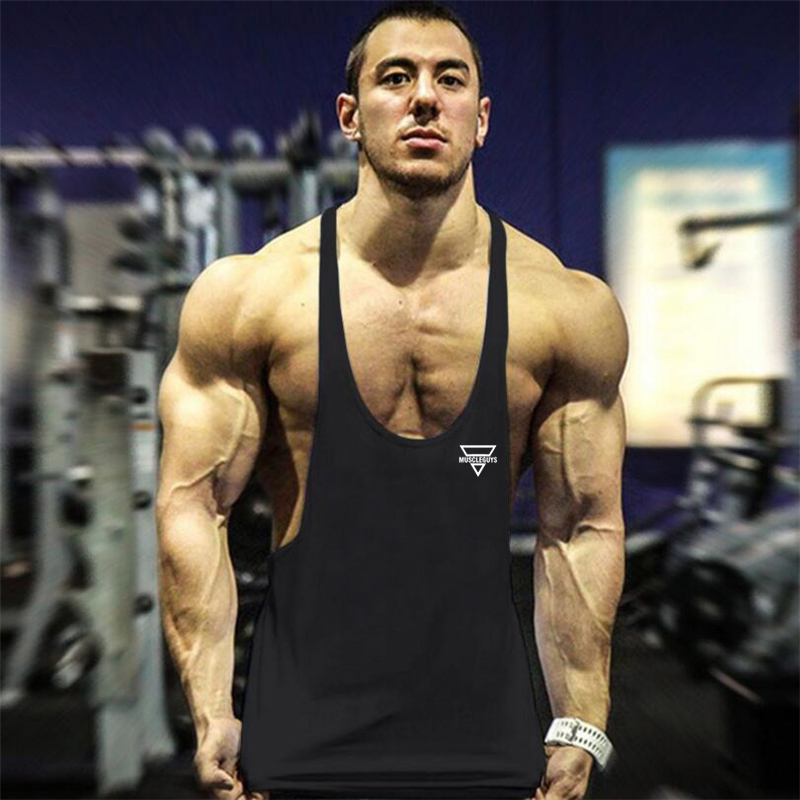 New Bodybuilding Stringer Tank Top Men Fitness Clothing Gyms Shirt Brand Muscle vest Workout Cotton Regatas Masculino