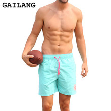 GAILANG Marke Mens Solide Board Shorts Strand Bademode Kurz Quick Dry Plus Size Mode Männer Casual Badeanzug Retrobadebekleidungs-stämme Druck Shorts