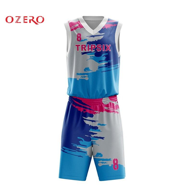 Bescheiden Neue Design Digitaldruck Throwback Blau Basketball Jersey Benutzerdefinierte Ruf Zuerst