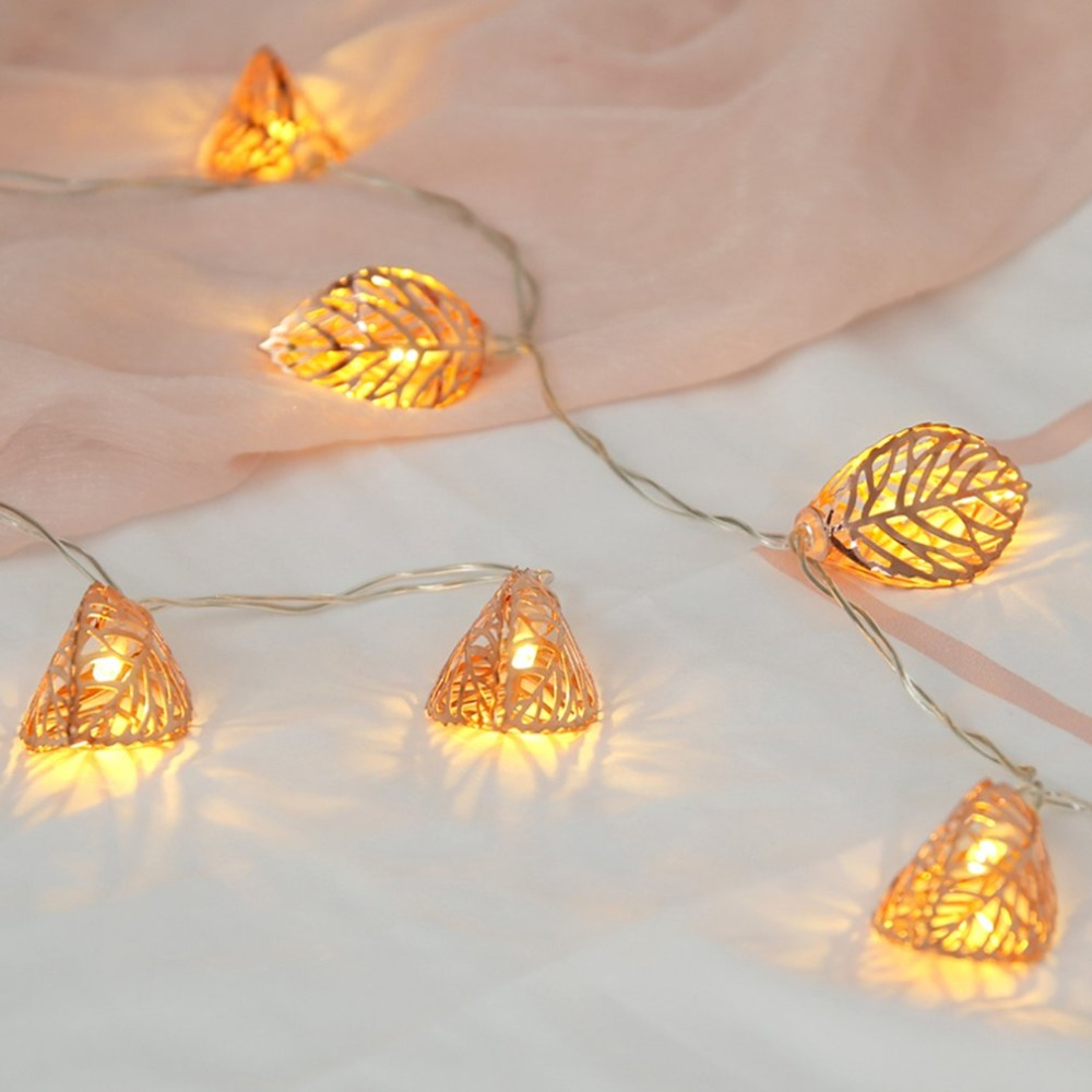 Rose Gold 10 Led Lantern Christmas Lights For Party Bedroom Bohemian Ceiling Wiring Decorations Wall Decor Bridal Showert Indoor Patio Summer In Lighting Strings From