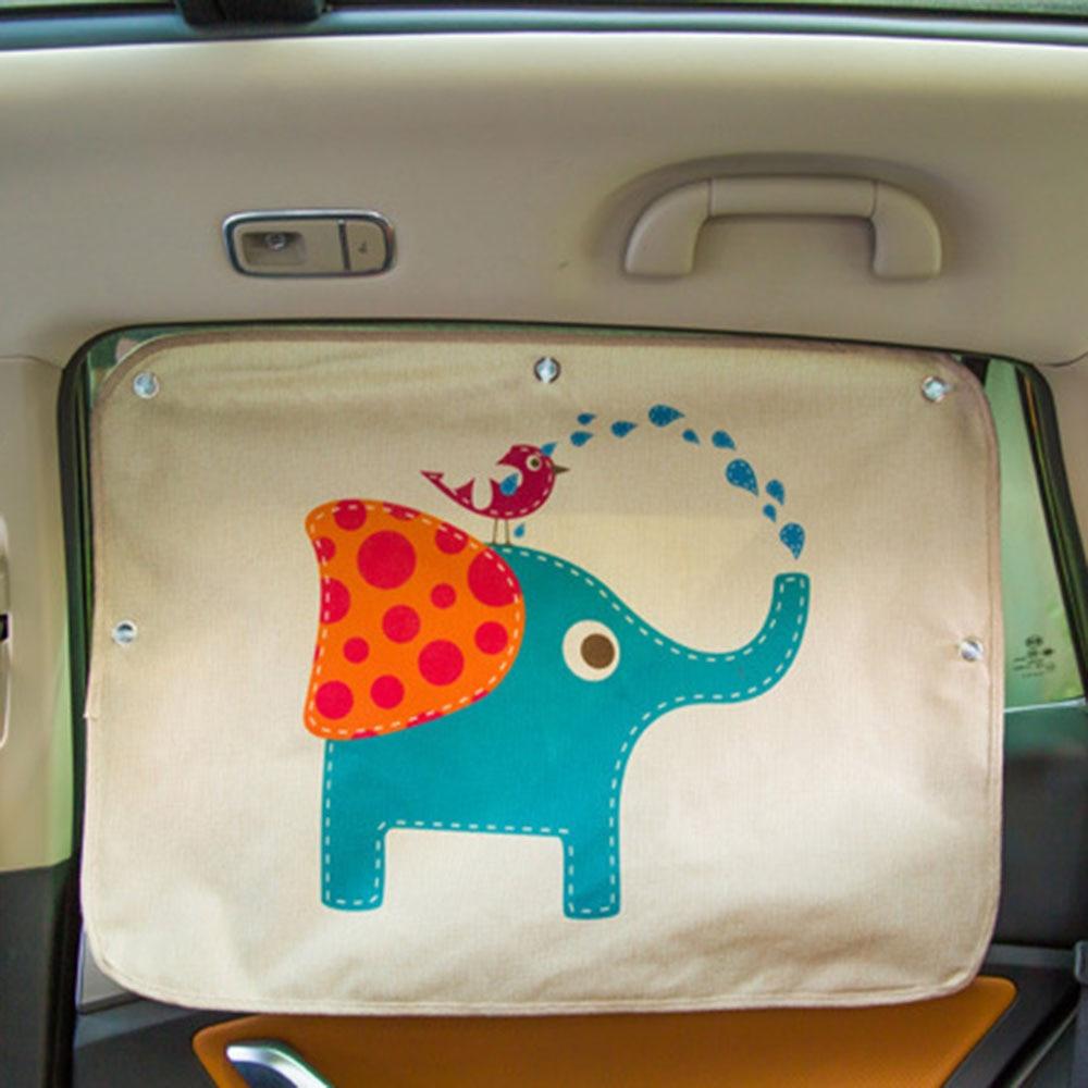 Car Windshield Car Sun Shade Curtains Cute Cartoon Rear Side Window Sunshade Protect Window Curtains Car Styling