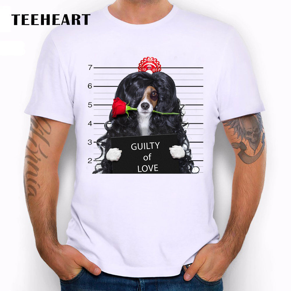 Wanted Bad Dogs Mugshot Miss Beagle Long Wig Funny Joke Men T Shirt Tee