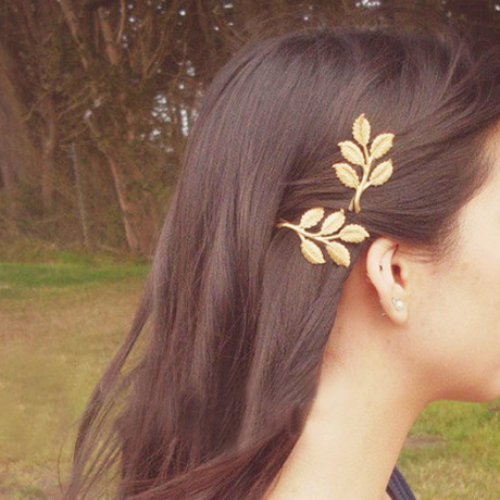 European And American Vintage Olive Branch Leaves Beautiful Bride Hairpin Clip Girls Hair Accessories