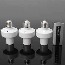 3 E27 Ổ Cắm Vít Không Dây Điều Khiển Từ Xa Ánh Sáng Bóng Đèn Giữ Nắp Công Tắc Chuyển Đổi Bộ Chia Adapter AC110V/180  240V