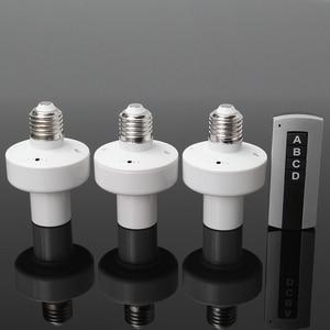 Image 1 - 3 pièces E27 douille vis sans fil télécommande lampe porte ampoule capuchon interrupteur convertisseur séparateur adaptateur AC110V/180 240 V
