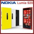 Abierto original nokia lumia 920 mobile phones 4.5 pulgadas pantalla capacitiva dual core 32g rom 1g ram envío libre