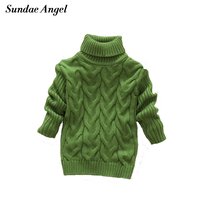 Sundae Angel Baby Girl Gensere Kids Boy Turtleneck Gensere Solid Winter Autumn Pullover Langermet baby jente genser Klær