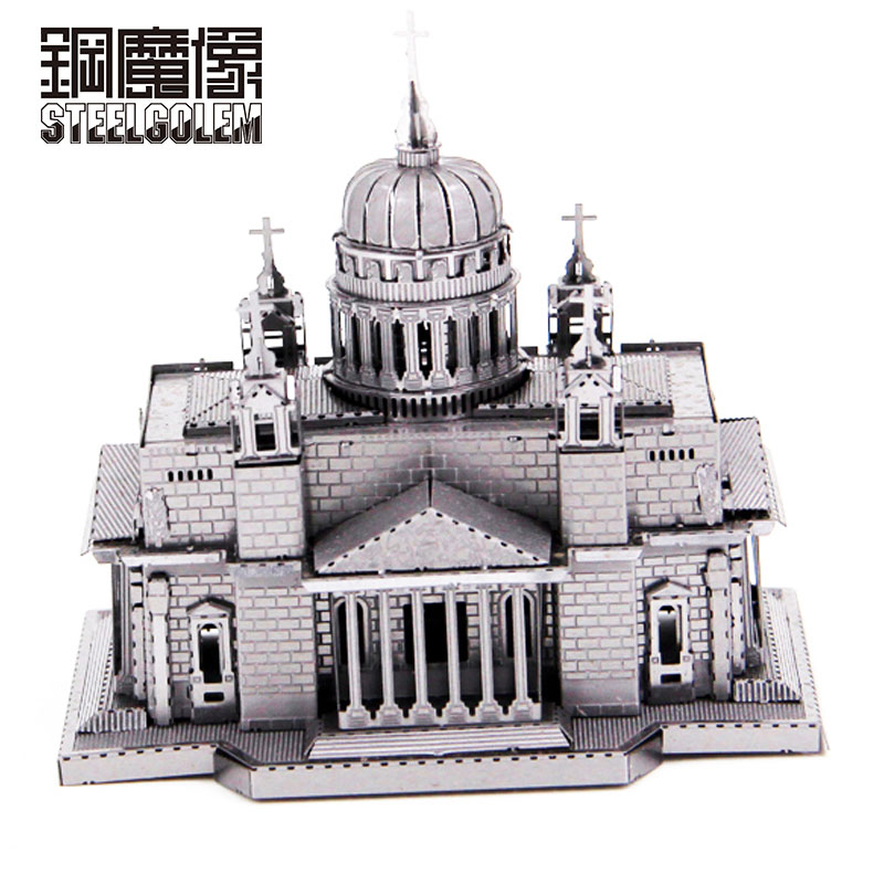 Ilon kiev cathedra 3d metal kits puzzle building model for Architectural decoration crossword clue