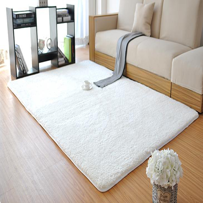 new fashion white fluffy rugs anti skid shaggy area living