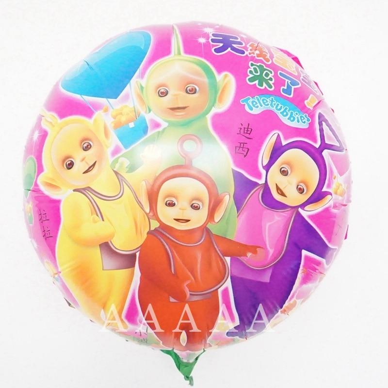 (5pcs/lot) cartoon balloons Teletubbies birthday balloons party 18inch round tin