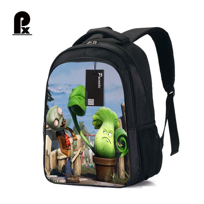 Student Schoolbag Hot Game Plants VS Zombie Print Backpack for Teenager Boys and Girls Orthopedic Cartoon Backpacks Schoolbags