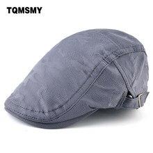 Unisex Visor Caps men s Berets Solid color Peaked cap Breathable Flat boina  Hats Spring autumn hats for men Gorras Planas c6d6316247b