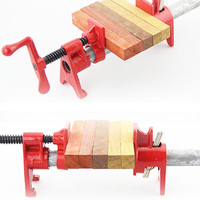 3/4 1/2 inch Heavy Duty Pipe Clamp Woodworking Wood Gluing Pipe Clamp 3/4 inch Pipe Clamp Fixture Carpenter Woodworking Tools