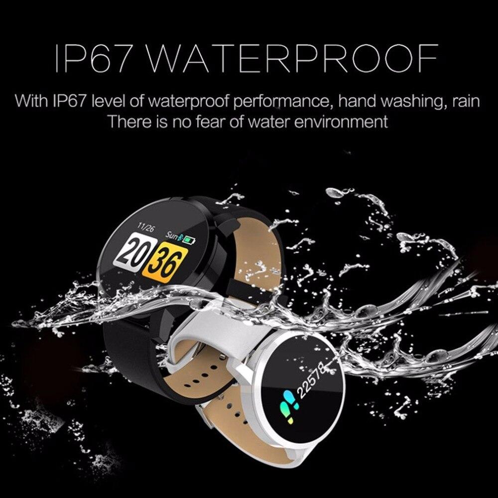 Q8 inteligente reloj de los hombres IP67 impermeable NRF52832 Chip de oxígeno en la sangre dormir Monitor de frecuencia cardíaca Fitness portátil inteligente reloj