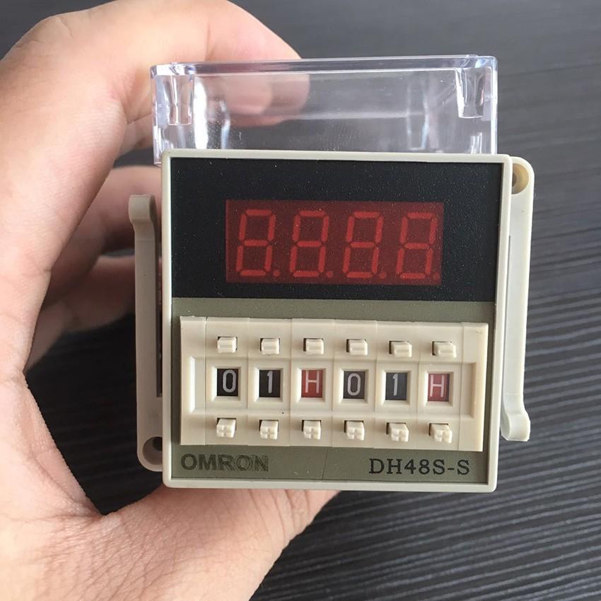 DH48S-S programmable double relais temporisé 0.1S-99H repeatcycle Socket 12-380 V