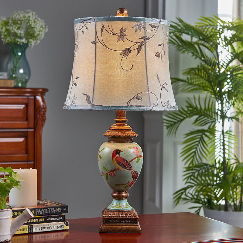 European style retro lamp bedroom bedside lamp type wedding hand-painted art creative new study the living room lamp american study desk lamp of bedroom the head of a bed european style living room hh creative fashion retro robot reading lamp