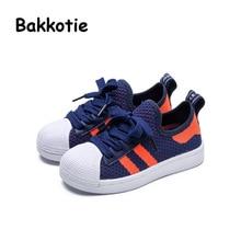 Bakkotie 2017 New Fashion Spring Autumn Child Shoes Baby Boy Fashion Black Sneaker Kid Brand Toddler Sport Girl Trainer Lace Up