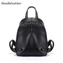 Урожай черная женщина рюкзак дизайнер высокое качество PU кожаный досуг студент колледжа сумки большая молния дамы туристические рюкзаки