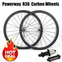 Супер легкий углерода велосипед колесной 700C 23/25 мм шириной 38 мм 50 мм 60 мм 88 мм R36 концентратор дорожного велосипеда Базальт площадь поверхнос